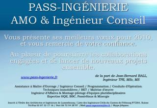 PASS-INGÉNIERIE AMO & Ingénieur Conseil