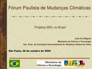 Fórum Paulista de Mudanças Climáticas
