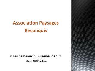 « Les hameaux du Grésivaudan  »  18  avril 2013  Pontcharra