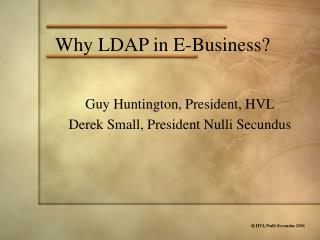 Why LDAP in E-Business?