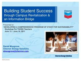 Building Student Success through Campus Revitalization & an Information Bridge