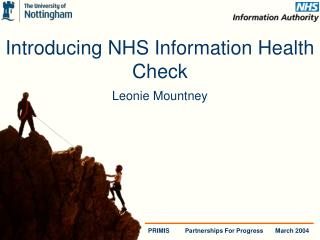Introducing NHS Information Health Check