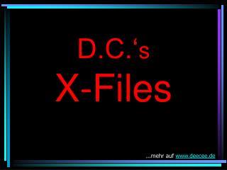 D.C.' s X-Files