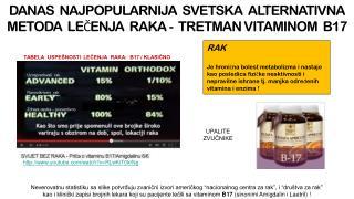 DANAS  NAJPOPULARNIJA  SVETSKA  ALTERNATIVNA   METODA  LEČENJA  RAKA -  TRETMAN VITAMINOM  B17