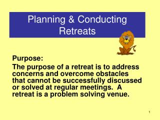 Planning  Conducting Retreats