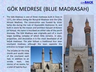 GÖK MEDRESE (BLUE MADRASAH)