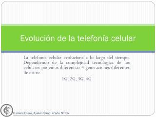 Evoluci�n de la telefon�a celular