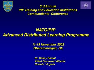 NATO/PfP  Advanced Distributed Learning Programme