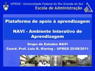 Plataforma de apoio à aprendizagem  NAVI - Ambiente Interativo de Aprendizagem