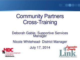 Community Partners  Cross-Training