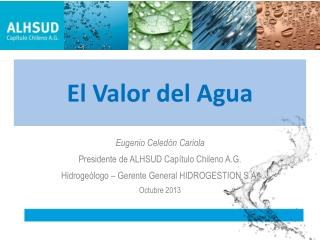 El Valor del Agua