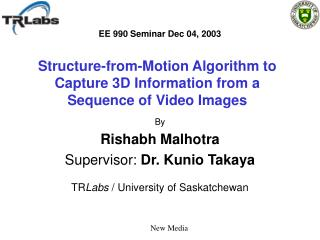 Structure-from-Motion Algorithm to Capture 3D Information from a Sequence of Video Images