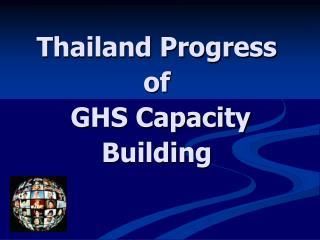 Thailand Progress of   GHS Capacity Building