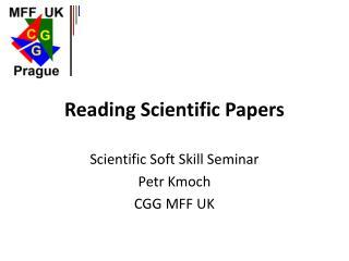 Reading Scientific Papers