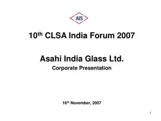 10th CLSA India Forum 2007