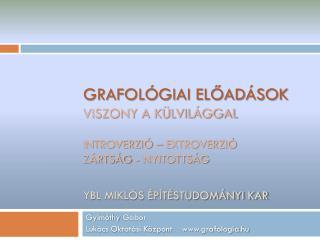 Gyimóthy  Gábor Lukács Oktatási Központ grafologia.hu