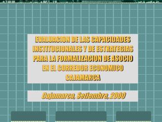 Cajamarca, Setiembre, 2000