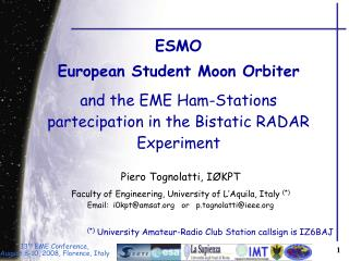 ESMO European Student Moon Orbiter