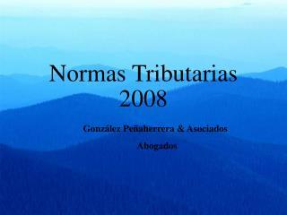 Normas Tributarias  2008