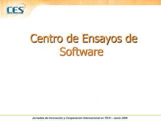 Centro de Ensayos de Software