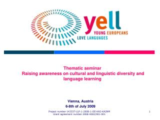 Thematic seminar Raising awareness on cultural and linguistic diversity and language learning