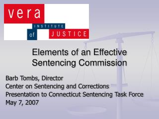 Elements of an Effective  Sentencing Commission