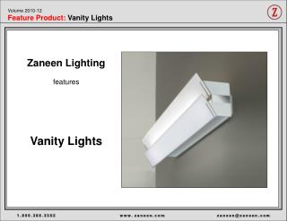 Volume 2010-12 Feature Product:  Vanity Lights