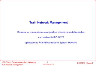 Train Network Management