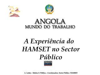 ANGOLA MUNDO  DO  TRABALHO