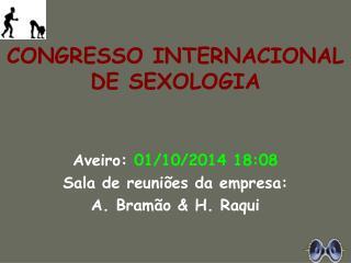 CONGRESSO INTERNACIONAL DE SEXOLOGIA