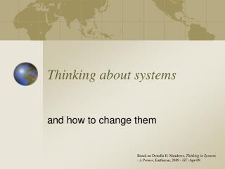 Thinking about systems