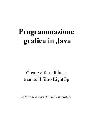 Programmazione  grafica in Java