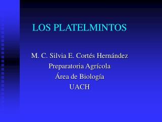 LOS PLATELMINTOS