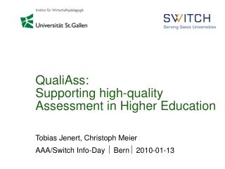 QualiAss: Supporting high-quality Assessment in Higher Education