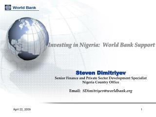 Investing in Nigeria:  World Bank Support