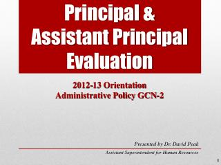 Principal & Assistant Principal Evaluation