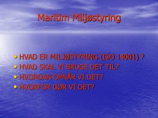 Maritim Miljøstyring