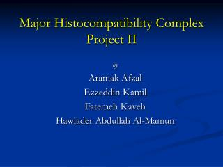Major Histocompatibility Complex Project II
