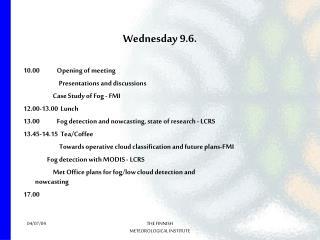 Wednesday 9.6.