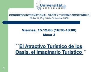 Viernes, 15.12.06 (16:30-18:00) Mesa 3