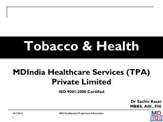 Tobacco & Health