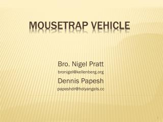 Mousetrap Vehicle