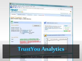 TrustYou  Analytics