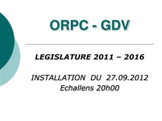 ORPC - GDV