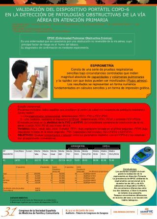 VALIDACIÓN DEL DISPOSITIVO PORTÁTIL COPD-6