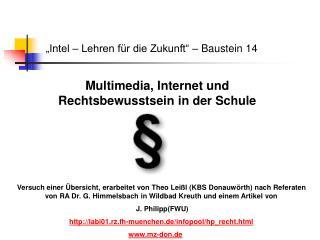 """""""Intel – Lehren für die Zukunft"""" – Baustein 14"""
