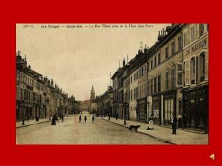 Saint-Dié, la rue Thiers