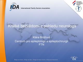 Krátké bezvědomí z pohledu neurologa