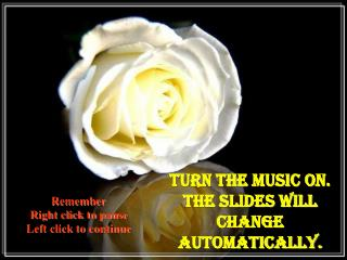 Turn the Music on. The slides will change automatically.