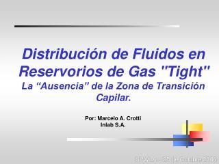 Distribución de Fluidos en Reservorios de Gas